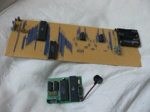 Dve različici prototipa - veroboard in vezje