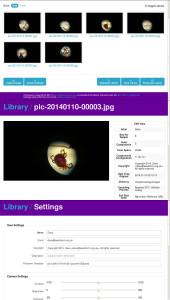 picroscopy spletna aplikacija