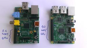 Model B s 26 W in model B+ s 40 W GPIO priključki