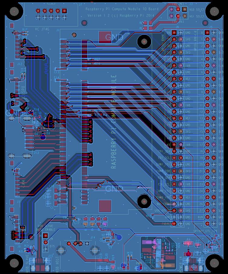 Vhodnoizhodna plošča Računalniškega modula Raspberry Pi - oblikovne datoteke