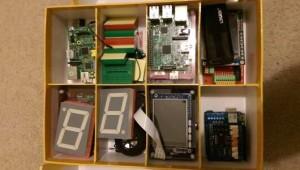 Jamesov kovček z Raspberry Pi in pripomočki